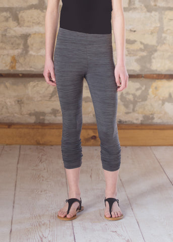 Cropped Legging - Charcoal