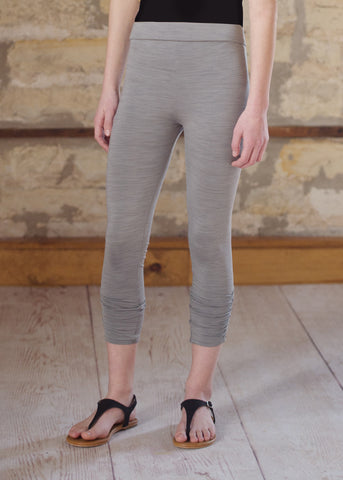Cropped Legging - Light Gray