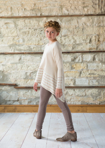 Gwen Long Sleeve Top  - Heather Oatmeal