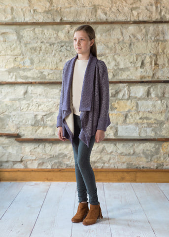 Wrap Cardigan - Plum
