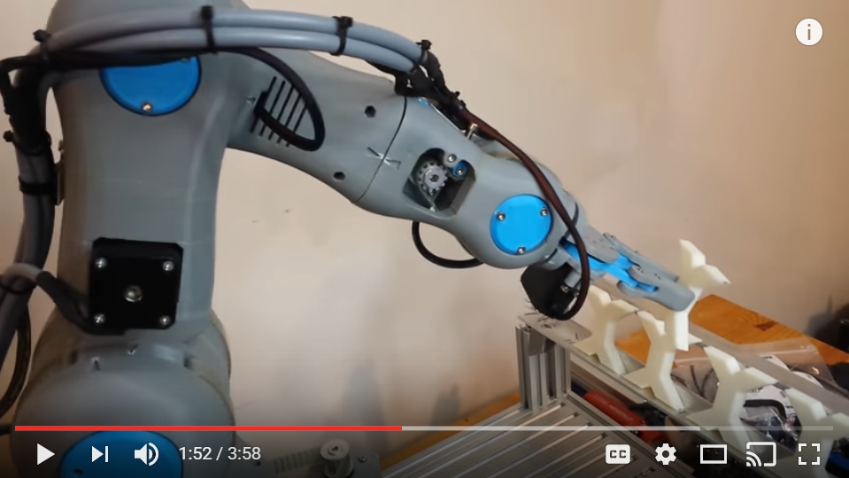 3D Printed 6 Axis Robot Arm - First Test