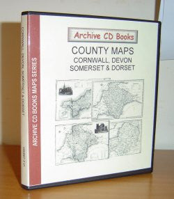 County Maps - Cornwall, Devon, Somerset & Dorset