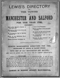 Manchester & Salford 1788 Lewis's Directory