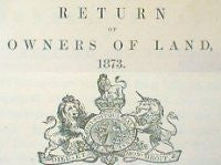 Image unavailable: Derbyshire 1873 Return of Owners of Land