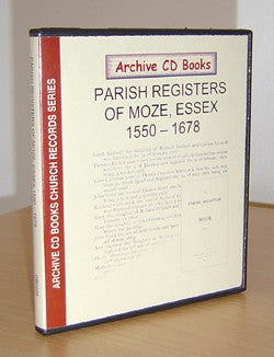 Parish Registers of Moze, Essex 1550-1678