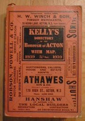 Acton 1939 Kelly's Directory
