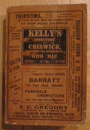 Chiswick 1938 Kelly's Directory