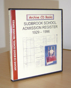Sudbrook School 1929-1996 Admission Register