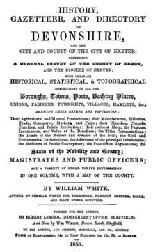 White's History, Gazetteer and Directory of Devonshire 1850