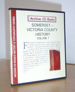 Somerset - Victoria County History Vol. 1