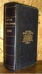 London 1833 Royal Blue Book