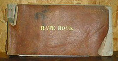 Cheddar Rate Book 1865