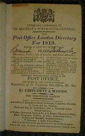 Post Office London Directory 1819
