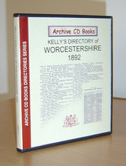 Image unavailable: Kelly's 1892 Directory of Worcestershire
