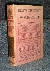 Image unavailable: 1935 Somersetshire Kelly's Directory