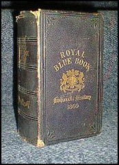 Image unavailable: London Royal Blue Book 1860