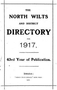 North Wilts & District Directory for 1917