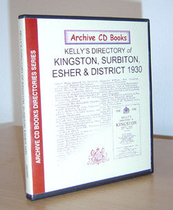 Kelly's 1930 Directory of Kingston, Surbiton, Esher and District