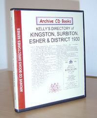 Image unavailable: Kelly's 1930 Directory of Kingston, Surbiton, Esher and District