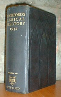 Crockford's Clerical Directory 1932 - Biographies