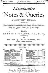 Image unavailable: Lincolnshire Notes & Queries - April, January & July 1890