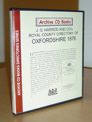 Image unavailable: Harrod's Directory for Oxfordshire 1876