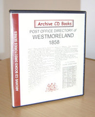 Image unavailable: Post Office Directory of Westmorland 1858