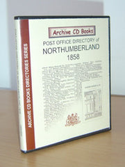 Image unavailable: Post Office Directory of Northumberland 1858