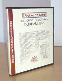 Post Office Directory of Durham 1858