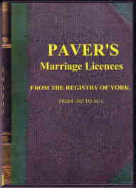 Pavers Marriage Licences