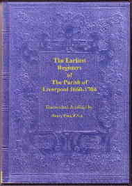 Parish Registers of Liverpool 1660-1704