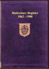 Image unavailable: Haileybury Register 1862-1900