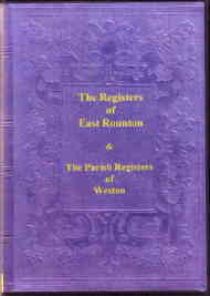 The Registers of East Rounton and Weston