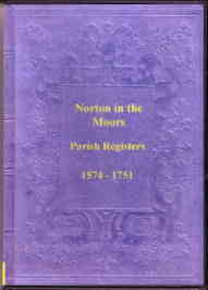 Norton in the Moors Parish Register 1574-1751