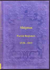 Parish Registers of Shipton
