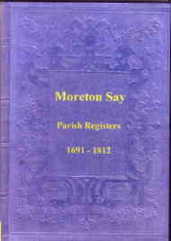 Parish Registers of Morton Say 1691-1812, Shropshire