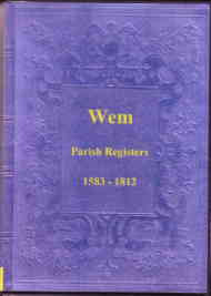 Parish Registers of Wem 1583-1812, Shropshire