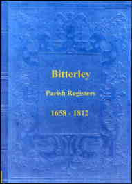 Parish Registers of Bitterley 1658-1812