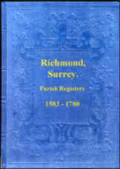 Image unavailable: Parish Registers of Richmond, Surrey