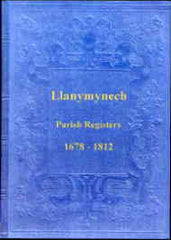 Image unavailable: Parish Registers of Llanymynech 1678-1812