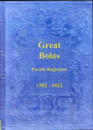 Parish Registers of Great Bolas, Shropshire