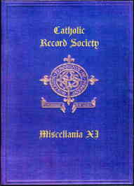 Catholic Record Society. Miscellanea XI