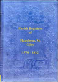 Parish Registers of Haughton, St. Giles (Staffordshire)