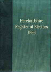 Image unavailable: Herefordshire Electoral Register 1936