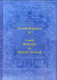 Parish Registers of Greete, Bedstone & Sibdon Carwood