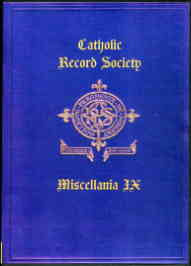 Catholic Record Society. Miscellanea IX