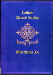 Image unavailable: Catholic Record Society. Miscellanea IX