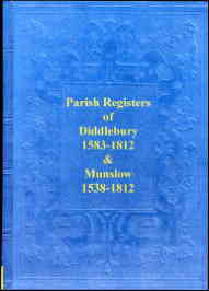 Parish Registers of Diddlebury & Munslow