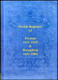 Parish Registers of Preston 1611-1635 & Broughton 1653-1804