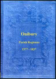 Parish Registers of Onibury, Shropshire